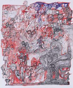 untitled, n.d. (2019) ink (rapidograph) on paper , 60x50 cm - Yalcin Cihangir